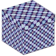 Snowflakes Pattern Storage Stool 12