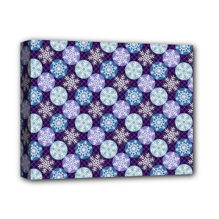 Snowflakes Pattern Deluxe Canvas 14  x 11