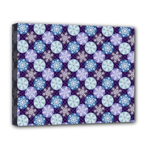 Snowflakes Pattern Deluxe Canvas 20  X 16