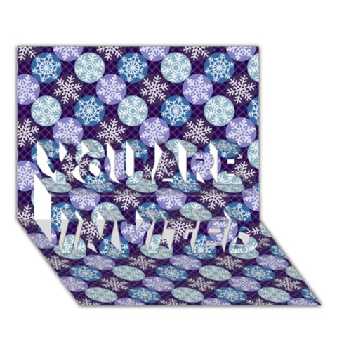 Snowflakes Pattern YOU ARE INVITED 3D Greeting Card (7x5)