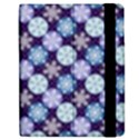 Snowflakes Pattern Apple iPad 3/4 Flip Case View2