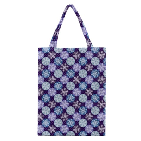 Snowflakes Pattern Classic Tote Bag
