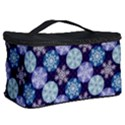 Snowflakes Pattern Cosmetic Storage Case View2