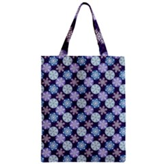 Snowflakes Pattern Zipper Classic Tote Bag