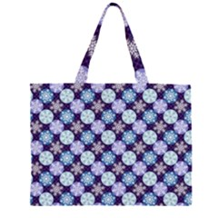 Snowflakes Pattern Large Tote Bag