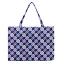 Snowflakes Pattern Medium Zipper Tote Bag View1