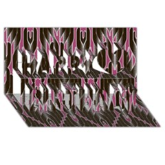 Pearly Pattern  Happy Birthday 3D Greeting Card (8x4)