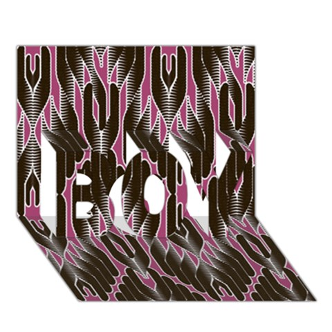 Pearly Pattern  BOY 3D Greeting Card (7x5)
