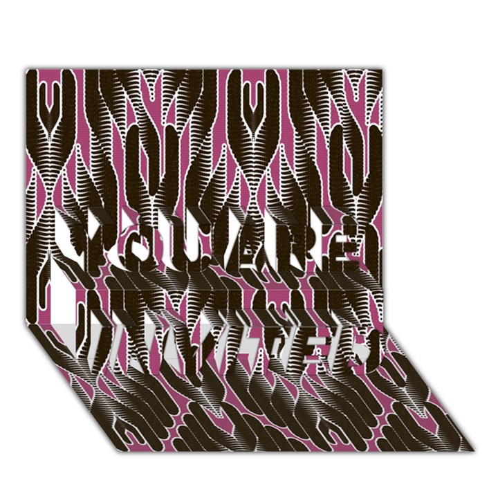 Pearly Pattern  YOU ARE INVITED 3D Greeting Card (7x5)