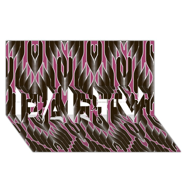 Pearly Pattern  PARTY 3D Greeting Card (8x4)