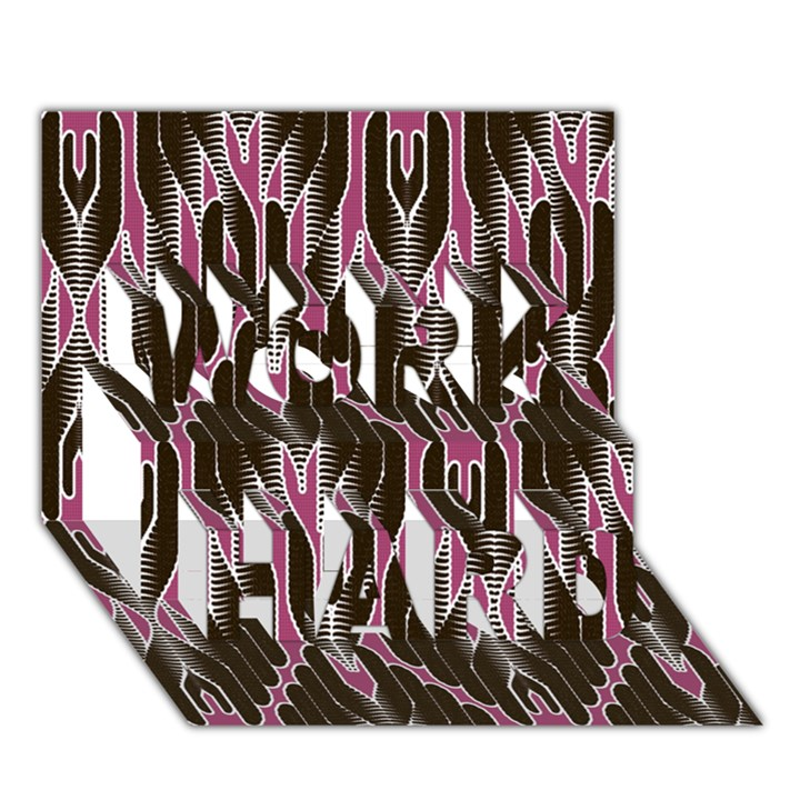 Pearly Pattern  WORK HARD 3D Greeting Card (7x5)