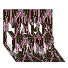 Pearly Pattern  TAKE CARE 3D Greeting Card (7x5)