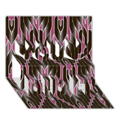 Pearly Pattern  You Did It 3D Greeting Card (7x5)
