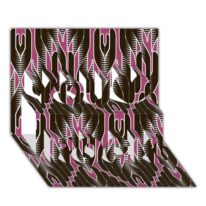 Pearly Pattern  You Rock 3D Greeting Card (7x5)