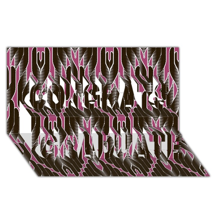 Pearly Pattern  Congrats Graduate 3D Greeting Card (8x4)