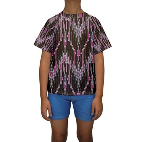 Pearly Pattern  Kids  Short Sleeve Swimwear