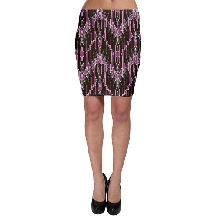 Pearly Pattern  Bodycon Skirt