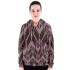Pearly Pattern  Women s Zipper Hoodie