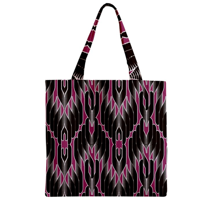 Pearly Pattern  Zipper Grocery Tote Bag