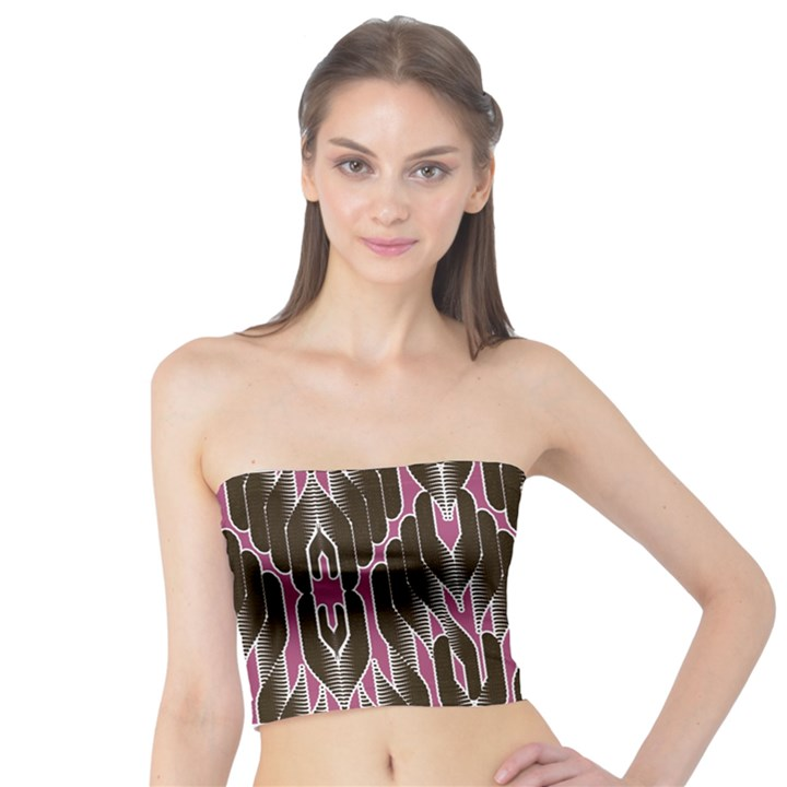 Pearly Pattern  Tube Top