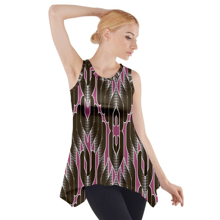 Pearly Pattern  Side Drop Tank Tunic