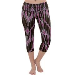 Pearly Pattern  Capri Yoga Leggings