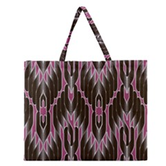 Pearly Pattern  Zipper Large Tote Bag