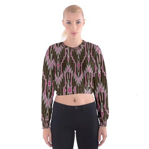 Pearly Pattern  Women s Cropped Sweatshirt