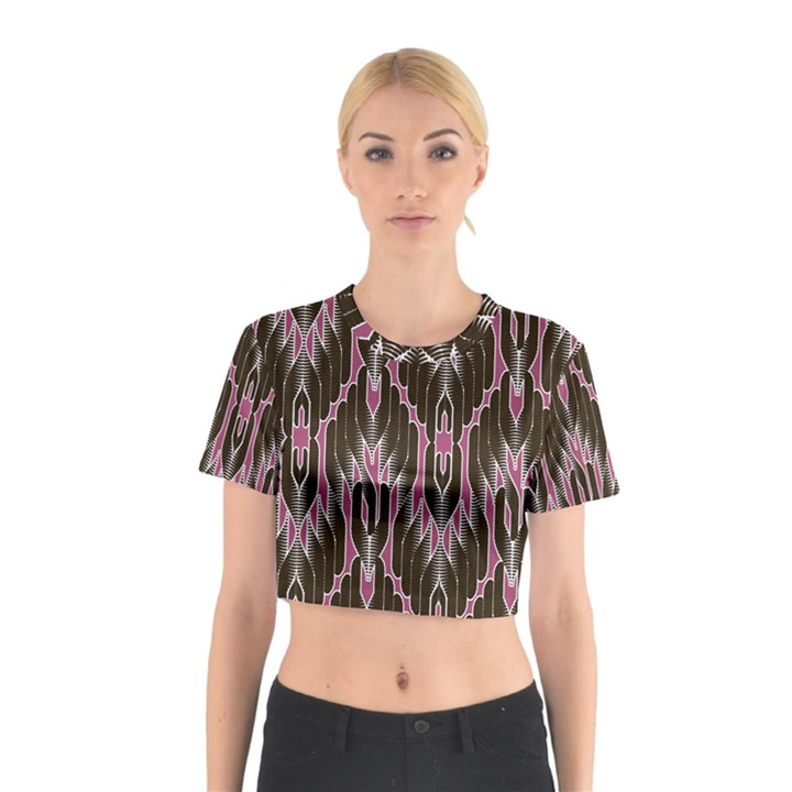 Pearly Pattern  Cotton Crop Top