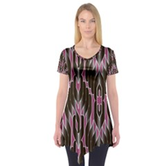 Pearly Pattern  Short Sleeve Tunic