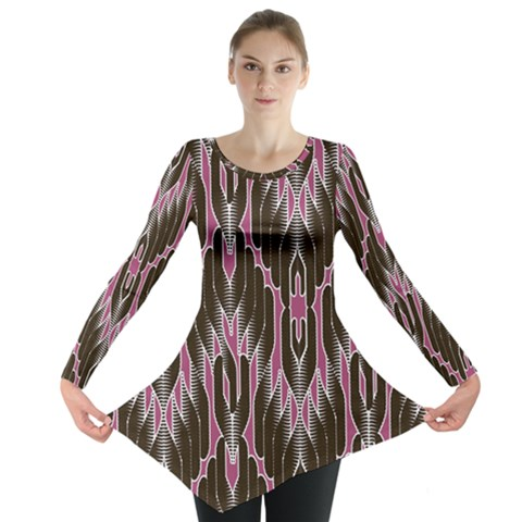 Pearly Pattern  Long Sleeve Tunic