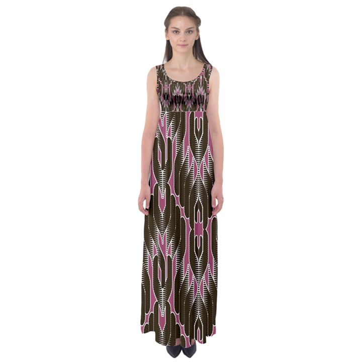 Pearly Pattern  Empire Waist Maxi Dress
