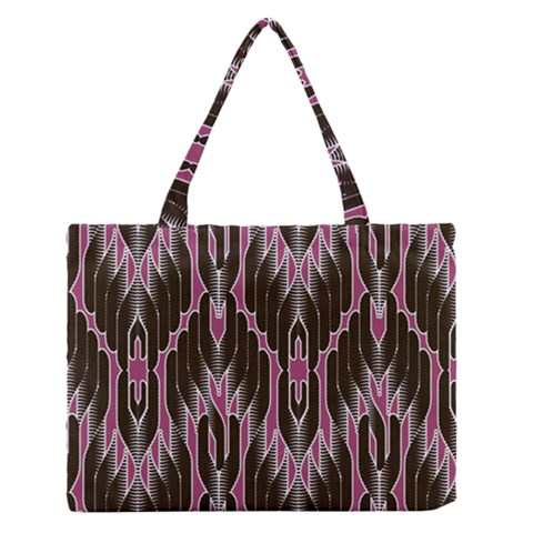 Pearly Pattern  Medium Zipper Tote Bag