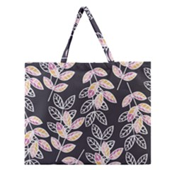 Winter Beautiful Foliage  Zipper Large Tote Bag