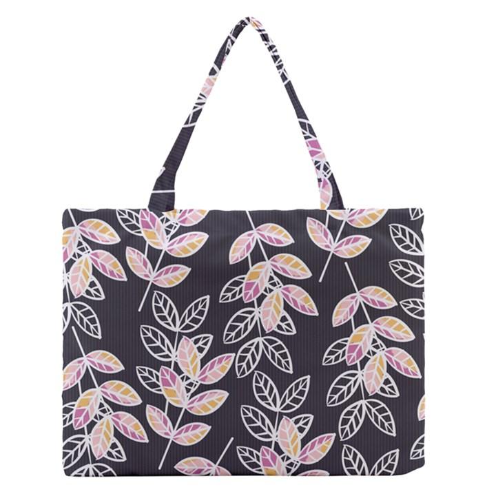 Winter Beautiful Foliage  Medium Zipper Tote Bag
