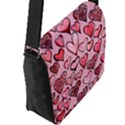Artistic Valentine Hearts Flap Messenger Bag (L)  View2