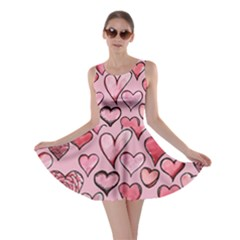 Artistic Valentine Hearts Skater Dress