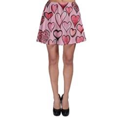 Artistic Valentine Hearts Skater Skirt