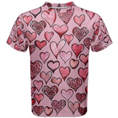 Artistic Valentine Hearts Men s Cotton Tee