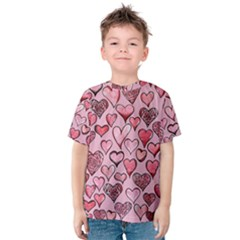 Artistic Valentine Hearts Kids  Cotton Tee