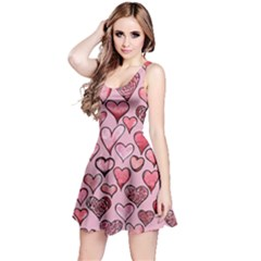 Artistic Valentine Hearts Reversible Sleeveless Dress