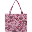Artistic Valentine Hearts Mini Tote Bag View1