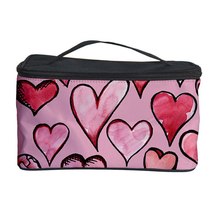 Artistic Valentine Hearts Cosmetic Storage Case