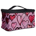 Artistic Valentine Hearts Cosmetic Storage Case View2