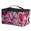 Artistic Valentine Hearts Cosmetic Storage Case View3