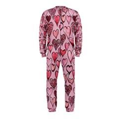 Artistic Valentine Hearts Onepiece Jumpsuit (kids)