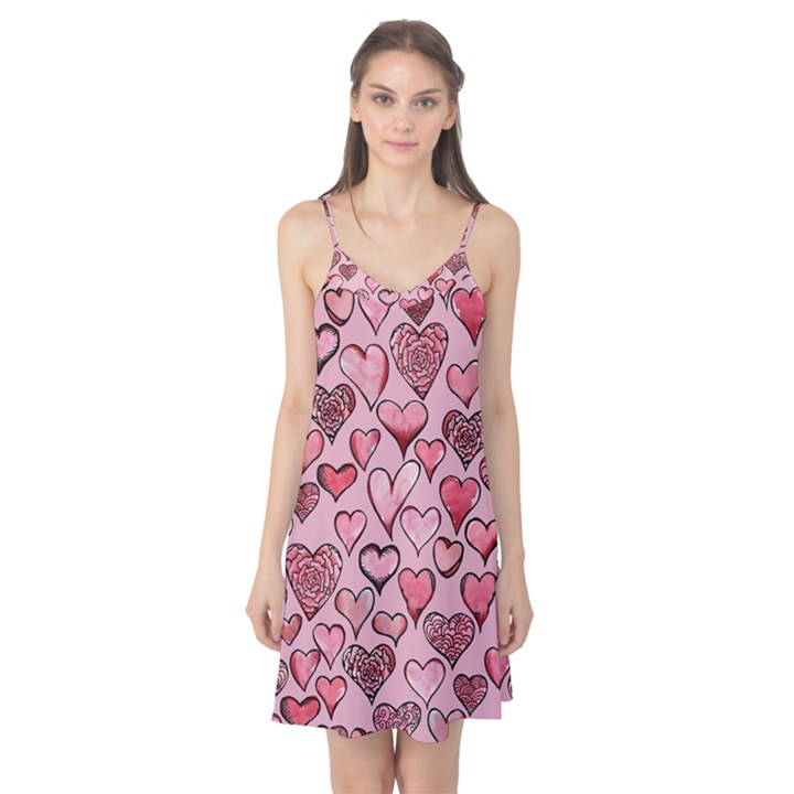 Artistic Valentine Hearts Camis Nightgown
