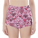 Artistic Valentine Hearts High-Waisted Bikini Bottoms View1