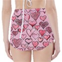 Artistic Valentine Hearts High-Waisted Bikini Bottoms View2