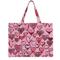 Artistic Valentine Hearts Large Tote Bag View2